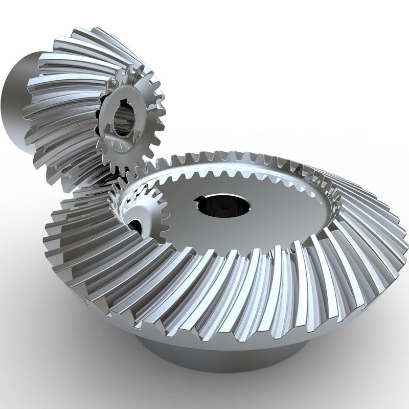 roda gigi payung spiral atau spiral bevel gear