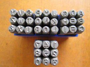 stamp huruf dan angka