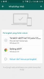 log out whatsapp web