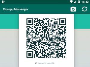 log in whatsapp messenger