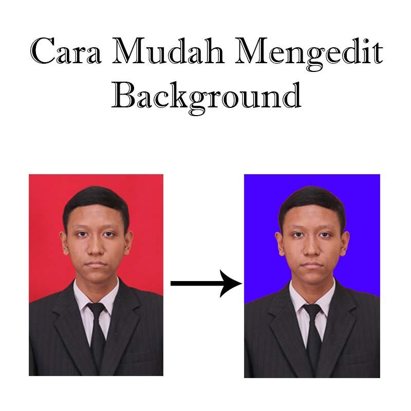 cara edit background