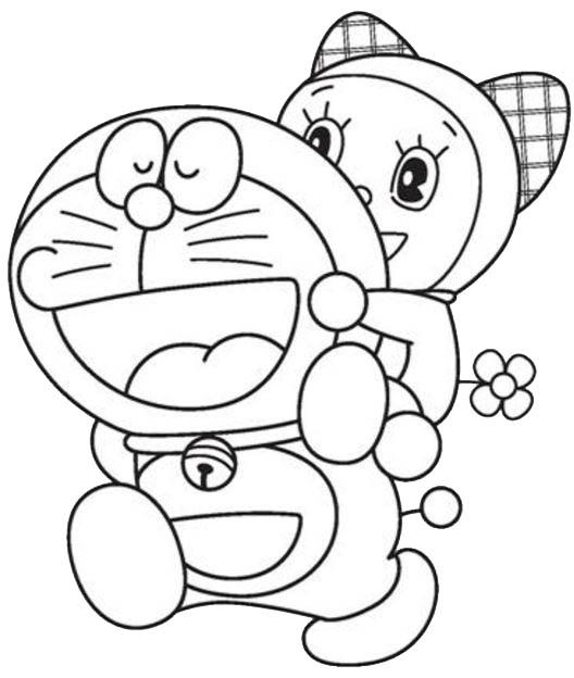 Gambar doraemon gendong dorami