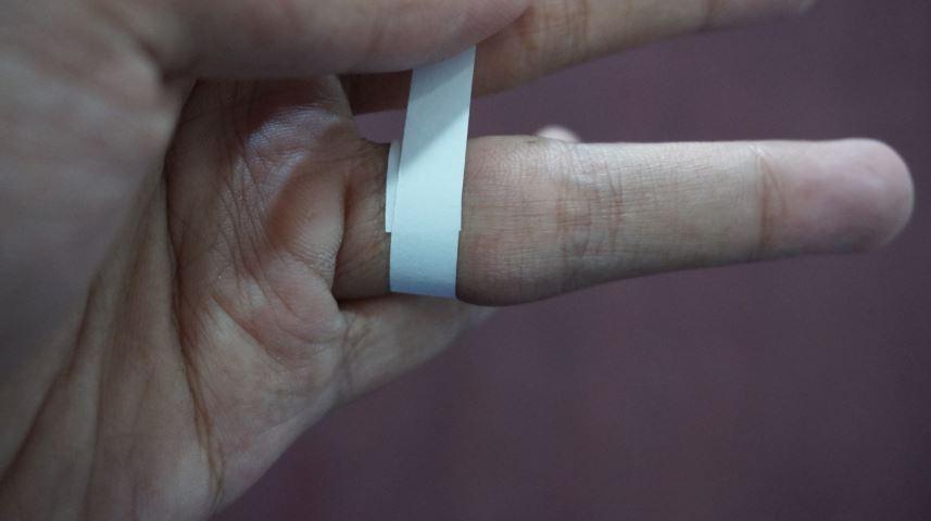 mengukur diameter cincin dengan kertas