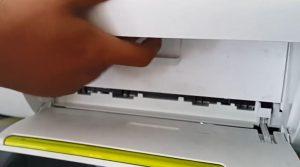 tutup kembali penutup printernya