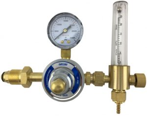 flow meter dan regulator argon pada las argon