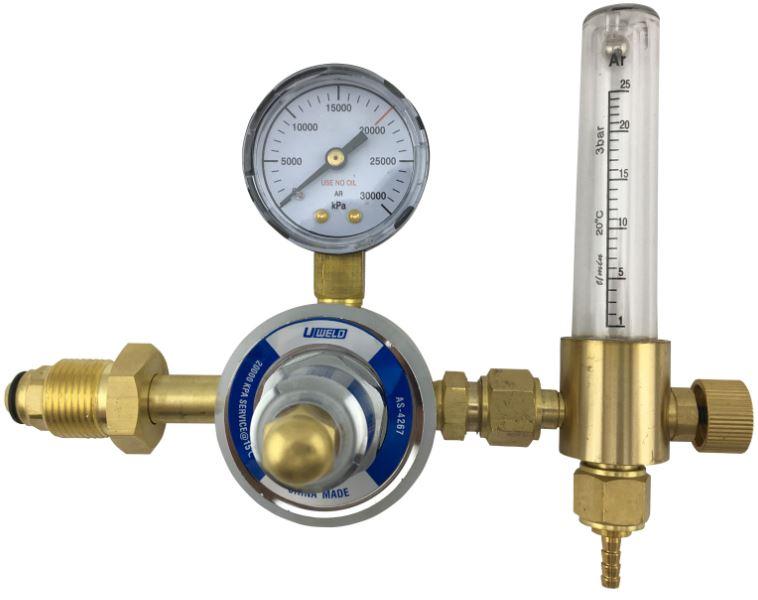 flow meter dan regulator argon pada las argon