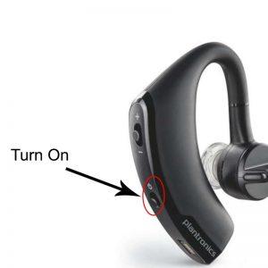 nyalakan headset bluetooth
