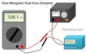 cara mengukur ampere dengan multimeter