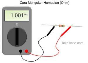 cara mengukur resistor dengan multimeter