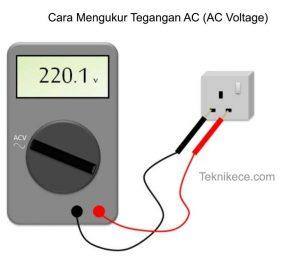 cara mengukur tegangan ac dengan multimeter