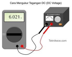 cara mengukur tegangan dc menggunakan multimeter