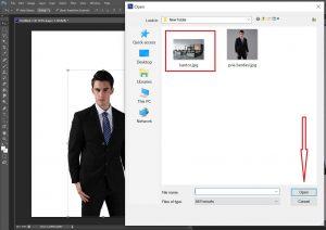 memilih background foto yang akan digunakan