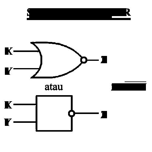 simbol gerbang logika nor