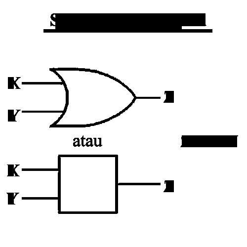 simbol gerbang logika or