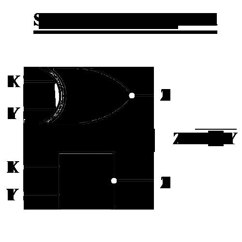 simbol gerbang logika x-nor